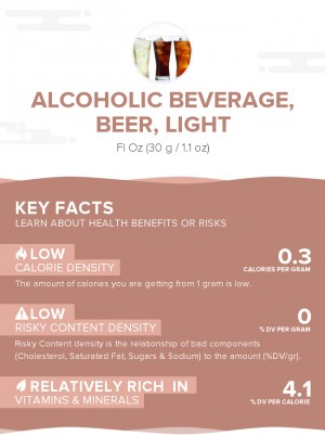 Alcoholic beverage, beer, light