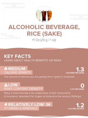 Alcoholic beverage, rice (sake)
