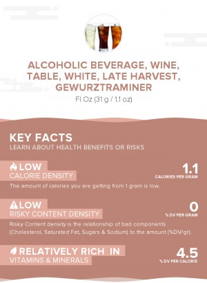 Alcoholic beverage, wine, table, white, late harvest, Gewurztraminer