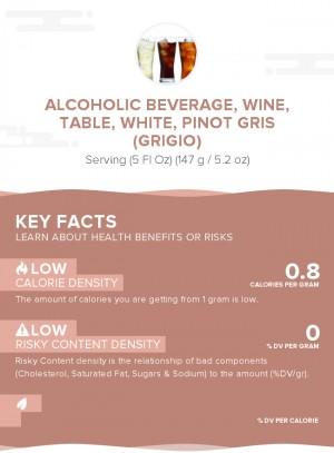 Alcoholic beverage, wine, table, white, Pinot Gris (Grigio)
