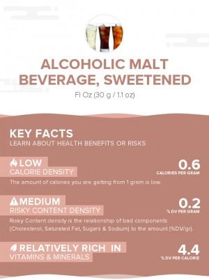 Alcoholic malt beverage, sweetened
