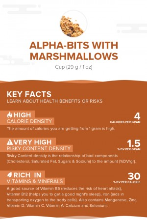 Alpha-bits with marshmallows