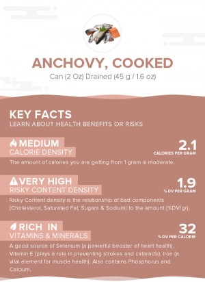 Anchovy, cooked