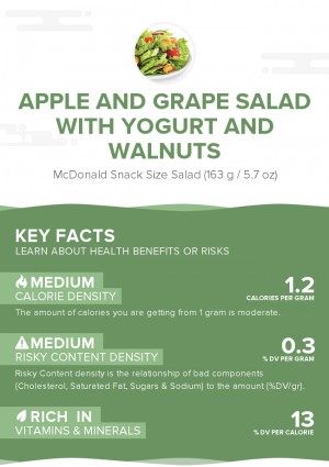 Apple and grape salad with yogurt and walnuts