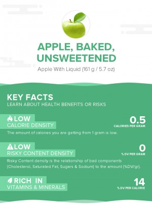 Apple, baked, unsweetened