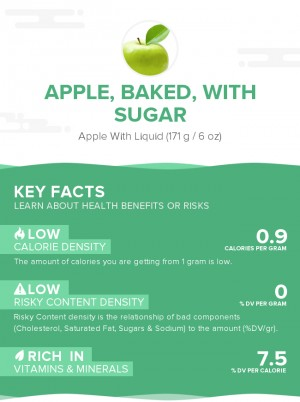 Apple, baked, with sugar