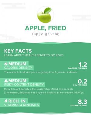 Apple, fried