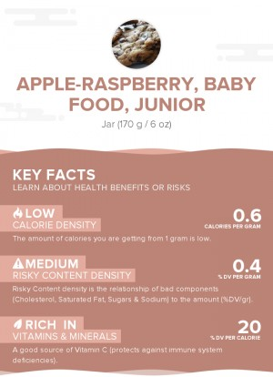Apple-raspberry, baby food, junior