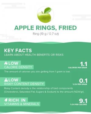 Apple rings, fried