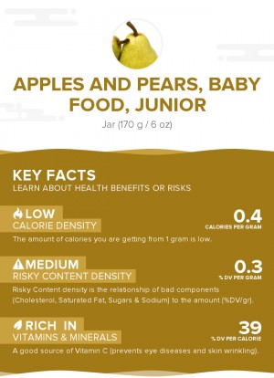 Apples and pears, baby food, junior