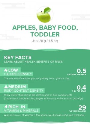 Apples, baby food, toddler