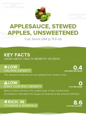 Applesauce, stewed apples, unsweetened
