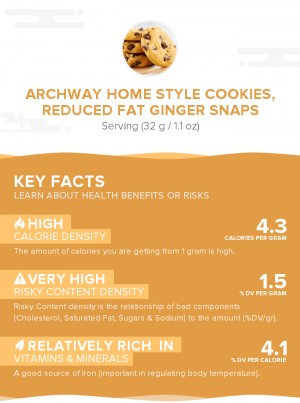 ARCHWAY Home Style Cookies, Reduced Fat Ginger Snaps