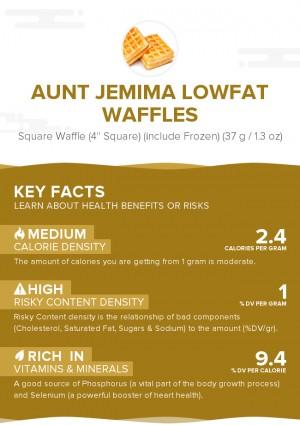 Aunt Jemima Lowfat Waffles