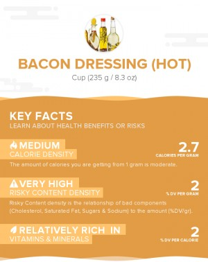 Bacon dressing (hot)