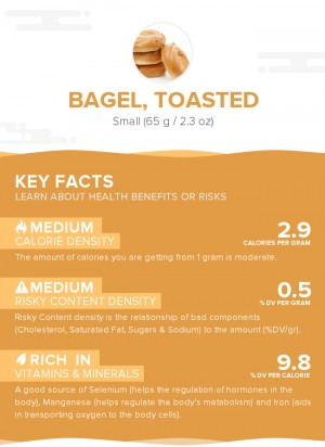 Bagel, toasted