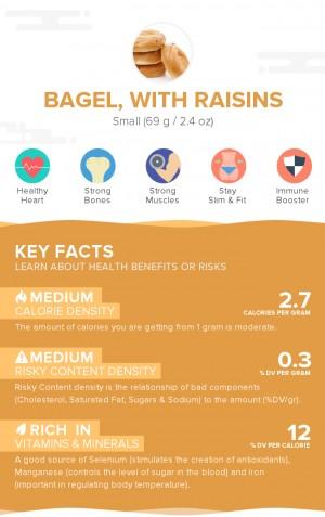 Bagel, with raisins