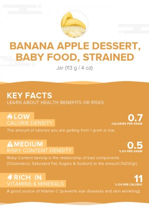 Banana apple dessert, baby food, strained