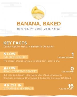 Banana, baked