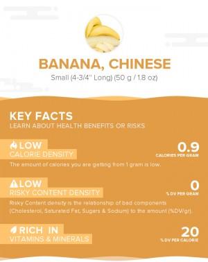 Banana, Chinese, raw