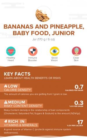 Bananas and pineapple, baby food, junior