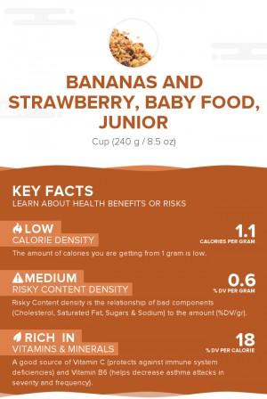 Bananas and strawberry, baby food, junior