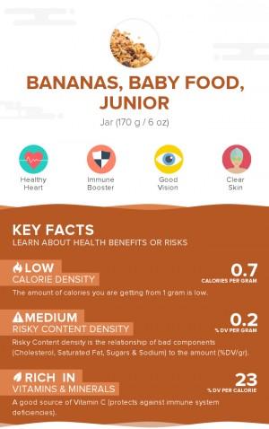 Bananas, baby food, junior