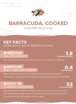 Barracuda, cooked
