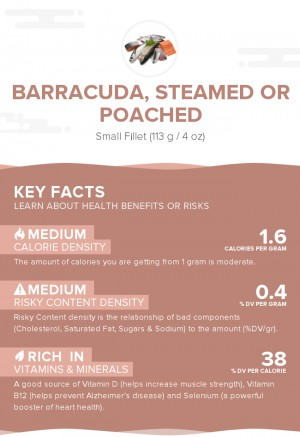 Barracuda, steamed or poached