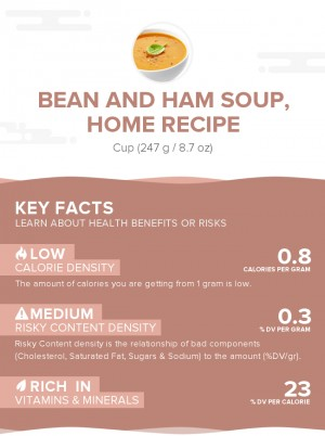 Bean and ham soup, home recipe