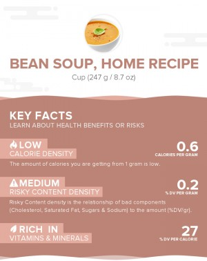Bean soup, home recipe