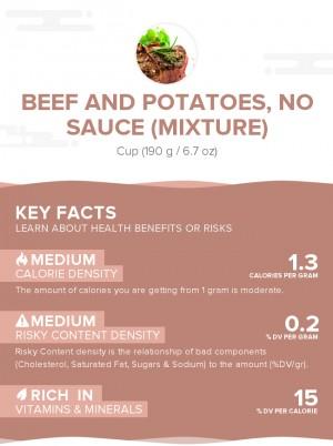 Beef and potatoes, no sauce (mixture)