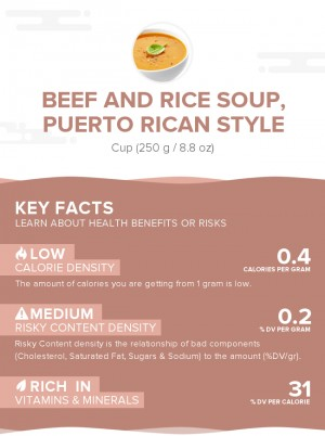 Beef and rice soup, Puerto Rican style