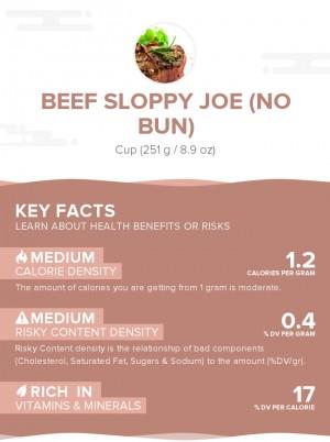 Beef sloppy joe (no bun)