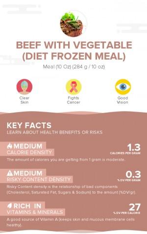 Beef with vegetable (diet frozen meal)