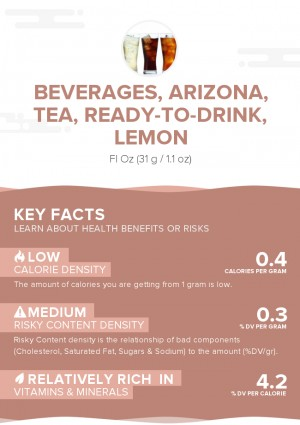 Beverages, ARIZONA, tea, ready-to-drink, lemon
