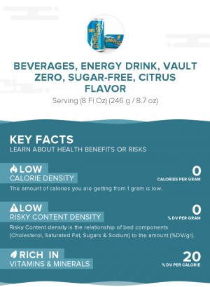 Beverages, Energy drink, VAULT Zero, sugar-free, citrus flavor
