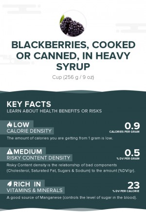 Blackberries, cooked or canned, in heavy syrup