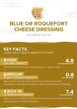 Blue or roquefort cheese dressing