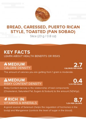 Bread, caressed, Puerto Rican style, toasted (Pan sobao)