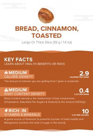 Bread, cinnamon, toasted