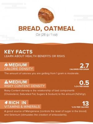 Bread, oatmeal