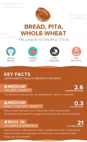 Bread, pita, whole-wheat