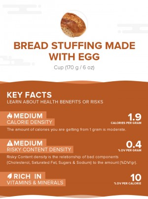 Bread stuffing made with egg