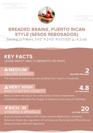 Breaded brains, Puerto Rican style (Sesos rebosados)