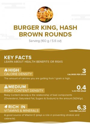 BURGER KING, Hash Brown Rounds
