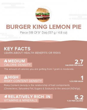 Burger King Lemon Pie