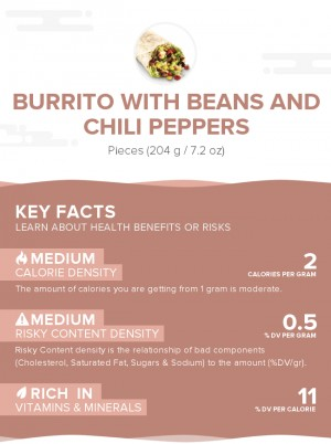 Burrito With Beans And Chili Peppers