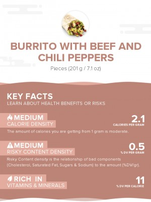Burrito With Beef And Chili Peppers