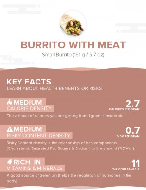 Burrito with meat
